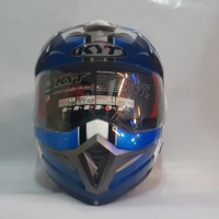 HELM KYT ENDURO MOTIF SERI 1 WHITE/BLUE/BLACK