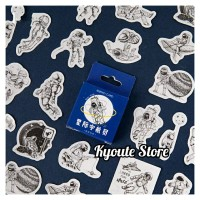 45 pcs Sticker Astronaut Activity Scrapbook DIY Bujo Planner Diary