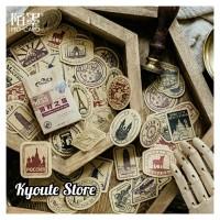 46 pcs Sticker Retro Country Stamp Scrapbook DIY Bujo Planner Diary