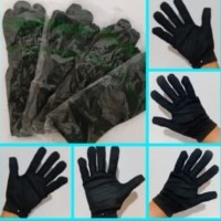 Sarung tangan kain hitam Handmedical black formal antivirus L Sepasang