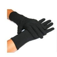sarung tangan kain hitam Hand medical formal black Antivirus L 1 lusin