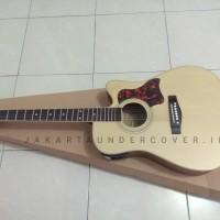 Gitar akustik elektrik F310 yamaha natural doff