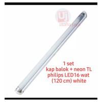 kap balok + TL LEd 16 wat philips ecofit putih