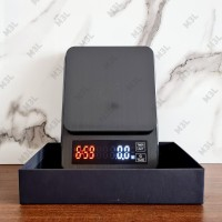 Timbangan Kopi Digital Charger 5KG / 0.1GR Timer V60 Drip Coffee Scale