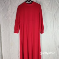 Gamis Polos Wanita | Jersey | Merah | Promo
