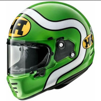 Helm Full Face Retro Modern Arai Rapide Neo HA Green Made in Japan