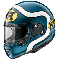 Helm Full Face Retro Modern Arai Rapide Neo HA Blue Made in Japan