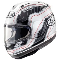 Helm Full Face Arai RX7X Randy Mamola Edge White