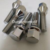 Baut Peugeot Long 12 MM X 1.25 Kepala 17 Panjang Ulir 4 Cm