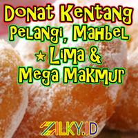 Donat Kentang Frozen Pelangi Donuts Jumbo Besar Original 500gr Beku