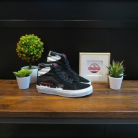 SEPATU VANS SK8 HIGH LED ZEPPELIN BLACK TRUE WHITE