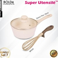 Bundle Set 7 - BOLDe Sauce Pan 18cm + Super Utensil Whisk