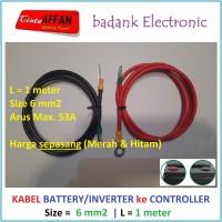 Kabel 6 mm2 Inverter / Battery ke MCB / SCC Panel Surya L = 1 meter