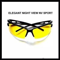 Kacamata Kuning List Hitam Night View Sport Kacamata Sporty Energik (2