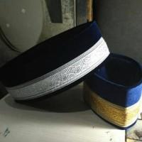 peci songkok bludru biru Dongker pilihan warna