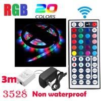 Lampu Strip 180 LED RGB SMD 3528 3 Meter Anti Air Fleksibel Dapat