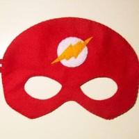 Topeng Superhero Flash Flanel Kostum Pesta Ulang Tahun