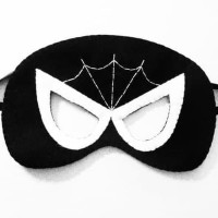 Topeng Superhero Spiderman Flanel Kostum Pesta Ulang Tahun anak