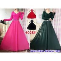 6028maxi # maxi dress kimono import TANPA BELT