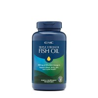 GNC Triple Strength Omega 3 Fish Oil 1000mg, 120 Count, Supports Joint