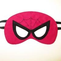 Topeng Superhero Spidergirl Flanel Kostum Pesta Ulang Tahun anak