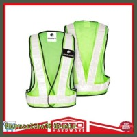 Sale Rompi Jaring V Guard Hijau List Merah Safety Vest Jala Proyek