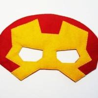 Topeng Superhero Ironman Flanel Kostum Pesta Ulang Tahun Anak