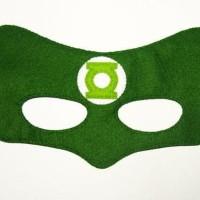 Topeng Superhero Green Lantern Flanel Kostum Pesta ulang tahun