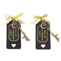 ✿NJ-★ 20pcs Vintage Key Bottle Opener Gift Tags Ribbon Wedding