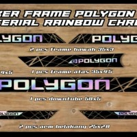 decal sticker frame sepeda polygon custom