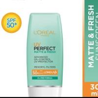 L'OREAL paris UV perfect matte refresh spf 50 kulit berminyak sunblock