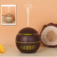 Pelembab Udara Air Humidifier Ultrasonic Aromatherapy Touch Led Wood