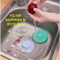 Saringan Silikon Penyaring Sampah Makanan Rambut Kitchen Sink Filter