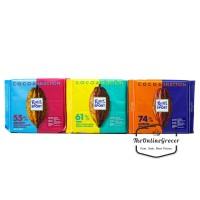 Ritter Sport Dark Cocoa Selection - Dark Chocolate - Cokelat Hitam 100