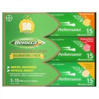 Berocca Energy Performance Vitamin C Effervescent Tablet Limited 45s