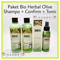 PAKET BMKS OLIVE 3 in 1 ~ ( Shampoo + Conditioner + Hair Tonic)