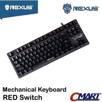Rexus RX-MX51 Keyboard Gaming Mechanical MX5.1 RED Switch - RX-MX5.1RD