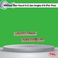 """Stempel Ban Huruf A-Z dan Angka 0-9 1/2"""" (Per Pcs)"""