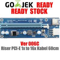 PCI-E 1X to 16X Riser Extender-Card Versi 006c Kabel USB 3 pcie pci