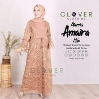 Baju gamis wanita terbaru busui brokat - Baju wanita muslim original