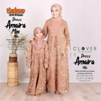 Baju gamis couple ibu dan anak brukat original Clover thaluna limited