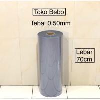 Plastik Mika Rigid 1 Roll Tebal 0.50mm Pembungkus Souvenir