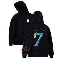 sweater hoodie zipper wanita BTS map of the soul - high quality