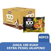 GAGA 100 Extra Pedas Kuah Jalapeno 75gr (1dus = 40 pcs harga grosir)