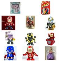 Paketan 9 macam Robot Hero dance - ada hadiah HANCURKAN!