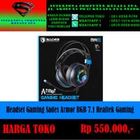 Headset Gaming Sades Armor RGB 7.1 Realtek Gaming Audio