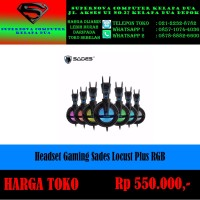 Headset Gaming Sades Locust Plus RGB