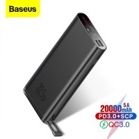 BASEUS 20000MAH STARLIGHT QUICK CHARGE POWER BANK FOR IPHONE 11 PRO