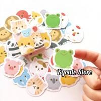 45 pcs Sticker Deco Animal Hewan Lucu Scrapbook Bujo Journal Diary DIY