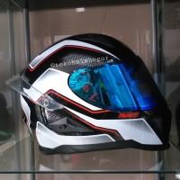 Snail FFS1 thunder white visor flat BLUE spoiler 3D ori